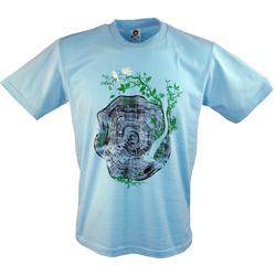 Guru-Shop T-Shirt Fun T-Shirt - Baumscheibe L