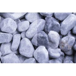 Marmor Kristall Blau getrommelt, 40-60, 500 kg Big Bag