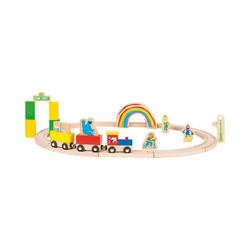 Small Foot Spielzeug-Eisenbahn Sesamstrasse Holzeisenbahn