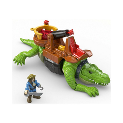 Mattel® Actionfigur Imaginext Piraten - Laufendes Krokodil & Käpt'n