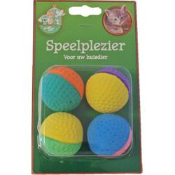 Boon Sponsballetjes kattenspeelgoed  Per 2 verpakkingen