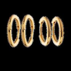 Ohrringe Horizon Hoops Set Gold