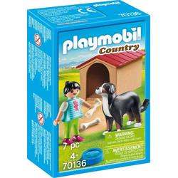 Playmobil Hofhund mit Hütte 70136
