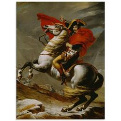 Artland Glasbild Napoleon bei der Überquerung der Alpen., Menschen (1 Stück) 45 cm x 60 cm x 1,1 cm