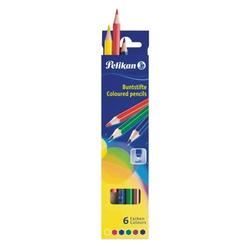 Buntstifte Standard dreieckig 6 Farben sortiert