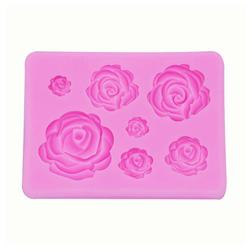 Masbekte Silikonform, 3D Silikon Fondant Silikonform, Backform rosa