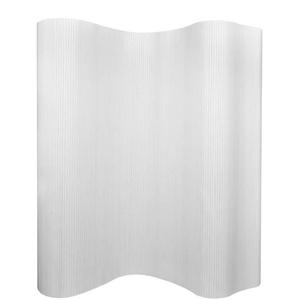 yorten Raumteiler Trennwand aus Bambus Weiß 250 × 195 cm (B × H) Stärke 3 mm Undurchsichtig Hauptdekorationfach