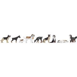 NOCH 0012852 H0 NO Sound-Szene Hunde