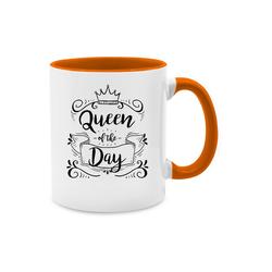 Shirtracer Tasse Queen of the day - Typisch Frauen - Tasse zweifarbig - Tassen, queen tasse