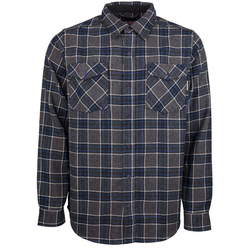 Hemd INDEPENDENT - Hatchet Button Up L/S Shirt Navy Plaid (NAVY PLAID) Größe: XL