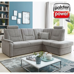 polsterpower Eckgarnitur - grau - Basismodell - Kombielement rechts