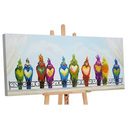 YS-Art Gemälde Lustige Vögel