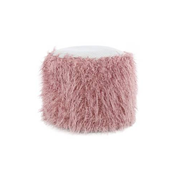 Fellpouf Bobtail 125 Rosa / Grau