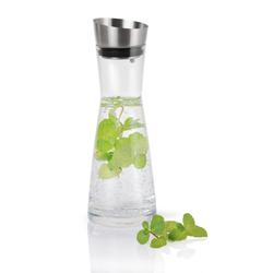 BLOMUS Wasserkaraffe ALDOA 0,9 Liter Glaskaraffe mit Edelstahlausgießer
