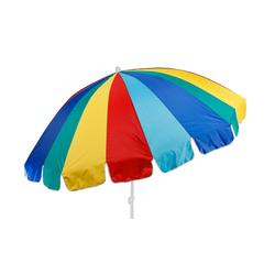 Meinposten Sonnenschirm Strandschirm UV Schutz 50+ großer Schirm BUNT knickbar Ø 190 cm, abknickbar, mit Tragetasche