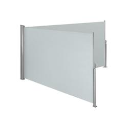 tectake Seitenarmmarkise Aluminium Doppel Seitenmarkise grau 200.0 cm