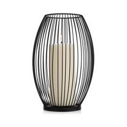 ELAMBIA Outdoor-Windlicht inkl. LED-Kerze Outdoor-Wachs Flamme Luma