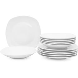 Retsch Arzberg Tafelservice Fino (12-tlg.), Porzellan weiß Geschirr-Sets Geschirr, Tischaccessoires Haushaltswaren