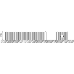 ABN Braun Bodenaufbausockel Gr.2 FB4 H=250mm SX016