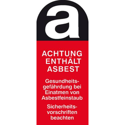 Warnschild Asbestfeinstaub Folie selbstklebend (B x H) 50mm x 120mm 1St.