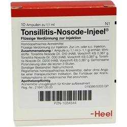 TONSILLITIS Nosode Injeel Ampullen 10 St