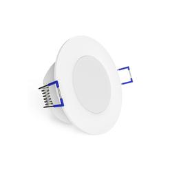 linovum LED Einbaustrahler WEEVO extra flacher LED Einbaustrahler dimmbar 2700K 6,5W 230V Bad & Außen IP44