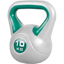 GORILLA SPORTS Kettlebell Kettlebell Stylish Kunststoff 10 kg, 10 kg grau