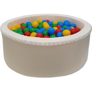 Baby Pluesh Bällebad Bällepool Bällebecken Spielbälle Kugelbad Bällchenbad Spielbecken 300 Balle, BEIGE