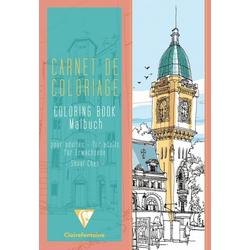 Malbuch für Erwachsene 21x29,7cm Stadt