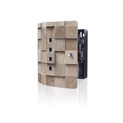 banjado Schlüsselkasten Edelstahl Bauklötze Relief, 24 x 21,5 x 7 cm