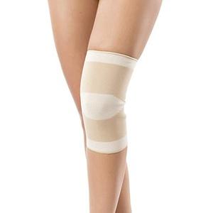 Kniestabilisator Elastische Kniebandage Knieorthese beige oder schwarz (XL Umfang über dem Knie (cm) 55-63)