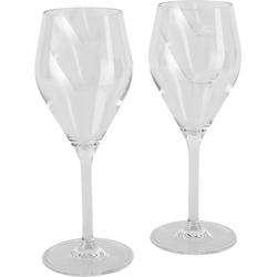 Meru Wine Glas 250ml - Camping-Weinglas - 2 Stück Crystall