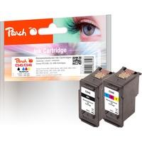 Peach kompatibel zu Canon PG-545 schwarz + CL-546 CMY (PI100-223)