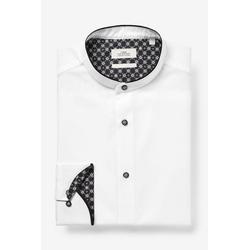 Next Hemd Grandad-Hemd mit Kontrastkragen 38