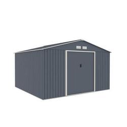 Metallgerätehaus 10,85 m2 Satteldach (340 x 319 cm) inkl. Verankerungsset und Unterkonstruktion