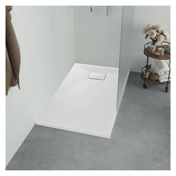 vidaXL Duschwanne vidaXL Duschwanne SMC Weiß 100×80 cm