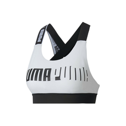 PUMA Sport-BH Mid Impact Feel It Damen Sport-BH weiß