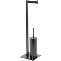 Möve Toilettenpapierhalter Velvet, schwarz, beschichtetes Metall