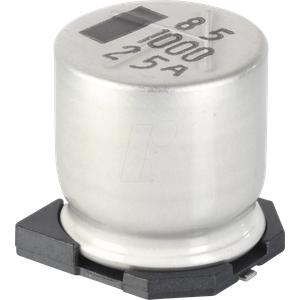 SUNC 25CE100KX - SMD-Elko, 100 µF, 25 V, 105 °C, 1000 h