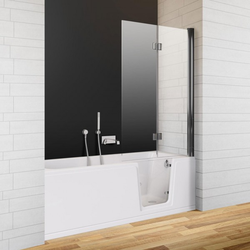 Badfaszination Exclusive Badewanne Thunder Bay mit Tür rechts R3 Weiß 160 x 75 x 48 cm Styrodur zum Verfliesen