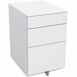 BISLEY OBA Rollcontainer 80% Auszug, 1 Schubladen 10cm, 1 Schublade 15cm, 1 HR-Schublade 56cm tief