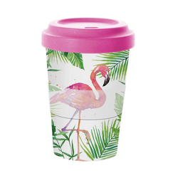 PPD Coffee-to-go-Becher Tropical Famingo Bamboo, Bambus