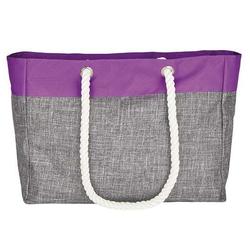 Shopping Bag – San Diego | bags2GO Grey-Melange/Neon-Lilac