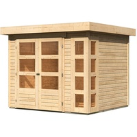 Woodfeeling Kerko 3 2,38 x 2,13 m natur