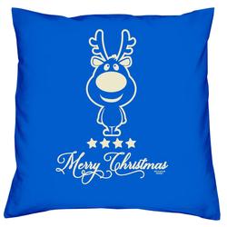 Soreso® Dekokissen Kissen Christmas Kissenbezug und Füllung, Mitbringsel blau