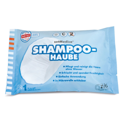 zetMedica® Shampoo-Haube, Einmal-Waschhaube zum Haare waschen ohne Wasser, 1 Beutel = 1 Haube