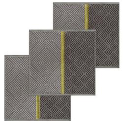 Lashuma Handtuch Set (Set, 3-tlg), Küchentücher Frottee, Geschirrtücher 50x50 cm grau