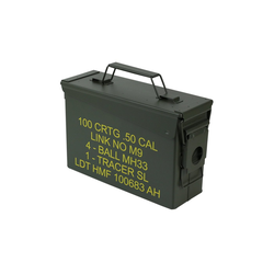HMF Aufbewahrungsbox Munitionskiste, US Ammo Box, Metallkiste, 27,5 x 17,5 x 9,5 cm, grün 22.7 cm x 17.5 cm x 9.5 cm