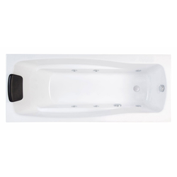 Emotion Whirlpool-Badewanne Whirlpool Set Optimus 150 cm lang Volkswhirlpool mit Massage-Basisaustattung