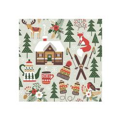 Paper+Design Papierserviette Serviette Winter Utensilien, (5 St), 33 cm lang